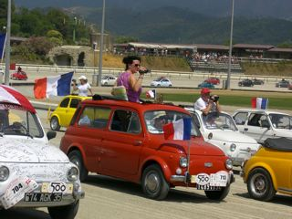 mes photos du meeting de Garelenda 2007 en fiat 500