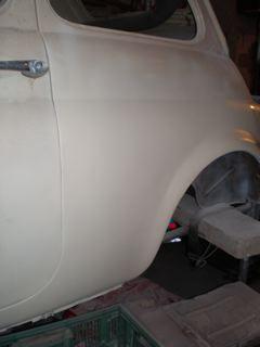 carrosserie de la fiat 500 aprêté